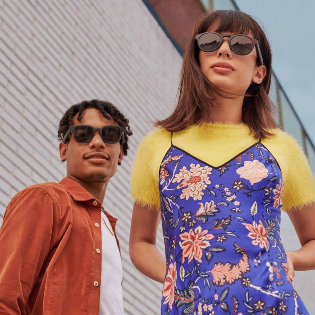 bose frames glasses worn by models