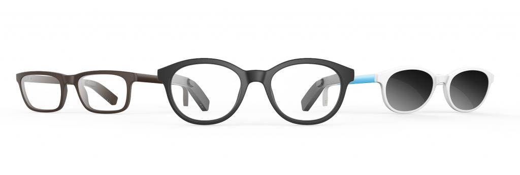 3 frame styles of vue glasses