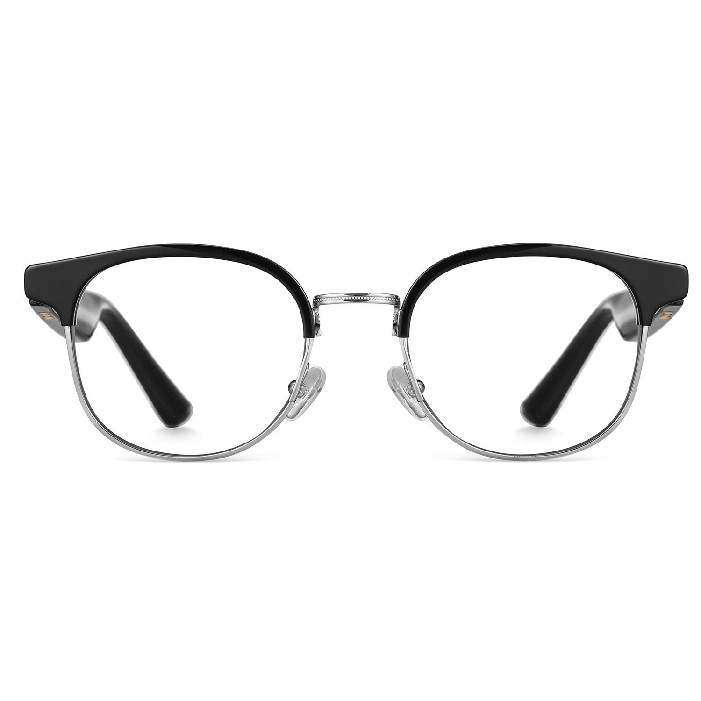 hoyee eyes luna smart bluetooth glasses blue light blocking front view