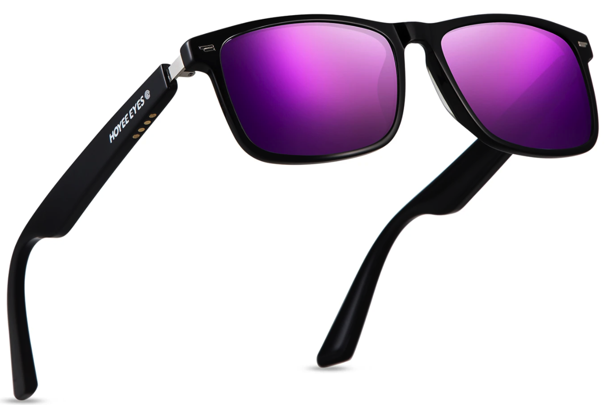envision purple bluetooth glasses